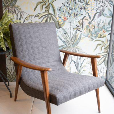 Fauteuil type scandinave vente mobilier Le mans tapissier boutique