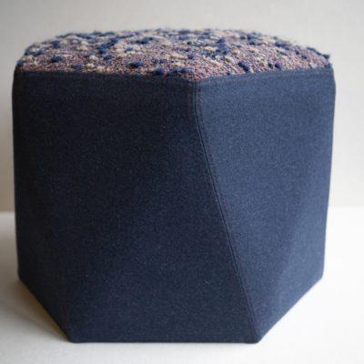 """Pouf """"l' hexagone"""" sur mesure"""